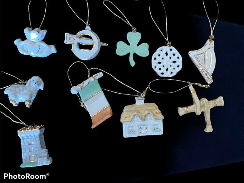 Lenox Luck of the Irish Miniature Tree Ornaments 1o Pieces (No Tree)