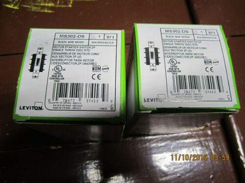 LEVITON MOTOR STARTER SWITCH MS302-DS LOT OF 2  BN