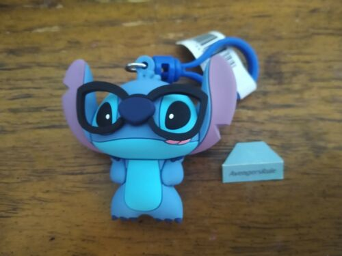 Disney Lilo & Stitch Figural Bag Clip Series 3 3 Inch Nerdy Stitch