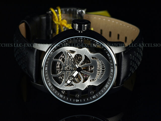 invicta men 48mm silver skull ty2807 mechanical s1 rally black ip new invicta men 48mm silver skull ty2807 mechanical s1 rally black ip ss watch