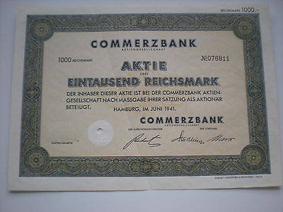 Deutschland - 5  x  Commerzbank AG  1000 RM  1941  1/259