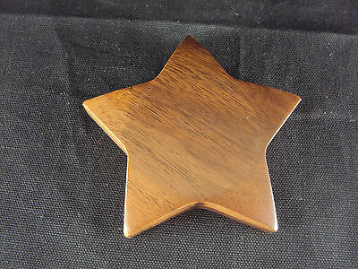 Paper Weight Woodessen Walnut Solid Wood Star Shape Gift Box Free Ship