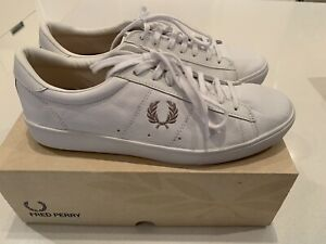 Fred Perry mens sneakers white leather
