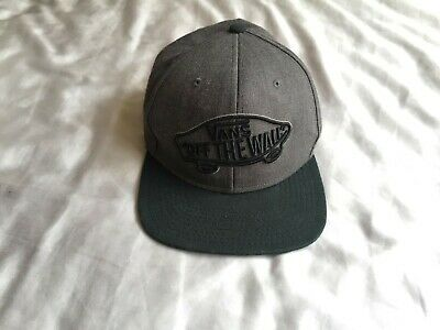 VANS Classic Snapback - Black and Grey - One Size - Used - Authentic