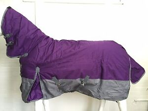 600D PURPLE/GREY 300G WINTER STABLE HORSE COMBO RUG - 5' 9