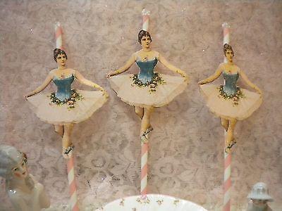 Cup Cake / Dessert Toppers Ballerinas (6) (Ballerina Cake)