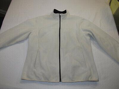 Lands End Women's Plus Size 1X 16W-18W Cozy Fleece Jacket White