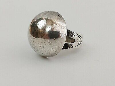 1940s Jewelry Styles and History Vintage Trading Post Era 1940's Domed Sterling Silver Concho Ring Sz 6 Navajo $50.99 AT vintagedancer.com