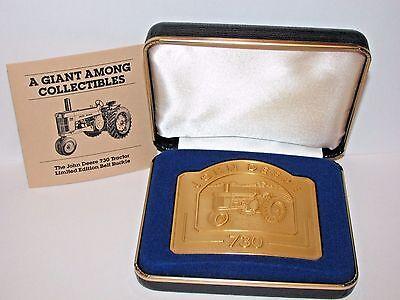 John Deere 730 Tractor Belt Buckle 1991 Limited Ed 5241/6000  24K Gold Plated