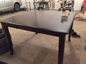 Solid oak table (bar height)