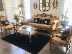Couch set  with chair and coffee tables