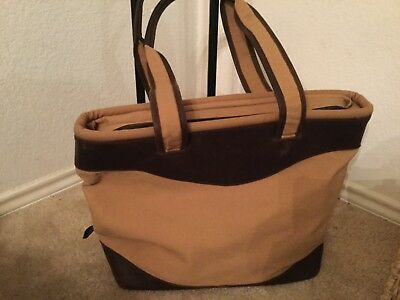 Canyon Outback Leather Canvas Tote Bag All-Purpose Tote Brown All Purpose Totes