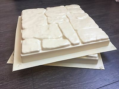 2 pc Plastic Molds for Concrete - Pavers Cement Forms *101