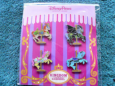Disney   Carousel Horses   New In Pack 4 Pin Booster Set