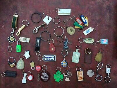 Keychains Key rings Advertising Lot of 45