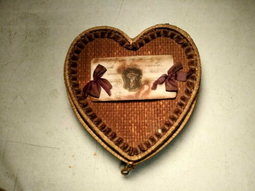 Antique Heart Shape Intricately Made Apollo Chocolates Basket c.1900