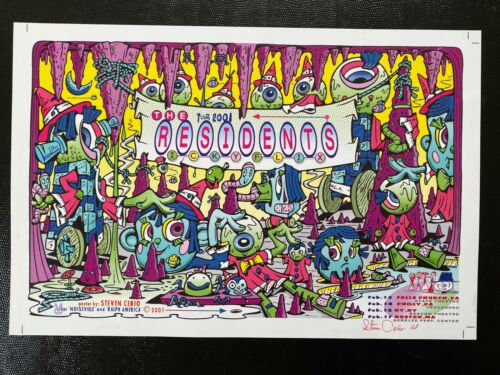The Residents 2001 Winter Tour Poster Signed Poster