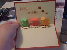 BNEW RED 3D POP UP TRAIN BIRTHDAY CARD HAS MULTI COLURED TRAINS Kotara Newcastle Area Preview