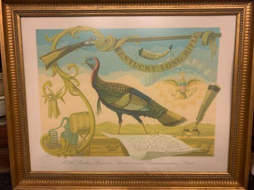 ALLEN SAALBURG SIGNED Rare 84/400 Art WILD TURKEY BOURBON LONG KENTUCKY RIFLE