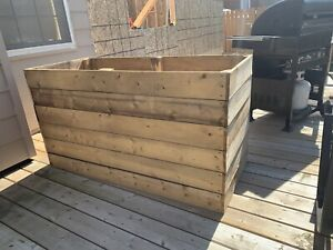 Large storage box or planter box for patio