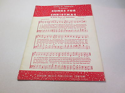 Songs For Christmas by Owel W Denson vintage Denson Music Publishing songbook