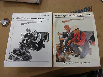 vtg HUNTING SHOOTING ADVERTISING MARLIN SPORTING FIREARMS CATALOG 1981 magazine