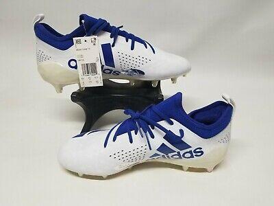 New Display Adidas Adizero 5 Star 7.0 Football Cleats White & Blue Emojis 9
