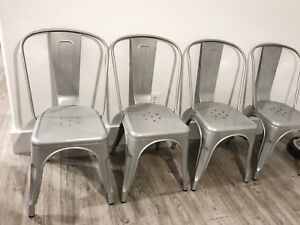 4 Silver Dining Chairs - Never Been Used!