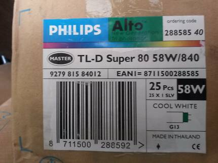 Philips TL-D 58W 840 Super 80 (MASTER) | 150cm - Cool White 25pz