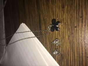 Butterfly necklace and butterfly earrings
