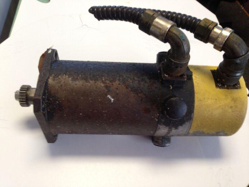 Used Fanuc M-483887 Model 5m 011 84.3 Dc Servo Motor, 2000-rpm,th