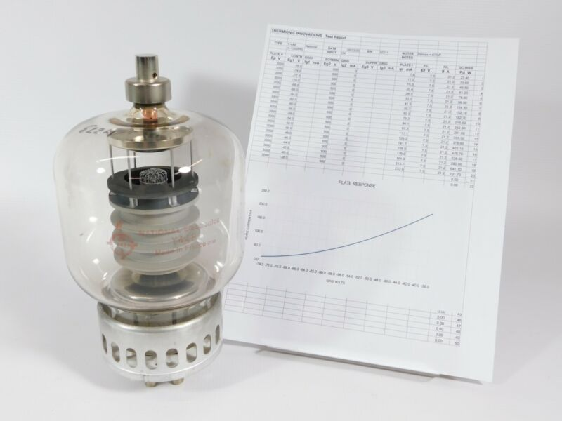 National Y448 Pulse-Rated 4-1000A Transmitting Tube (with test report)