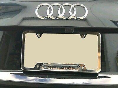 Premium Chrome License Plate Frame for S LINE Audi RS3 RS4 S4 S5 S6 S7 S8 TT Q3