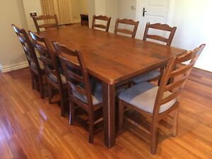 Jimmy Possum Dining Table and 8 Chairs - Excellent Condition