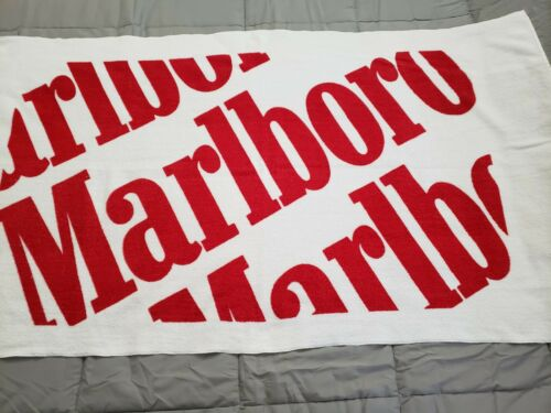 Vintage Marlboro Towel White & Red Letter Spellout  - New
