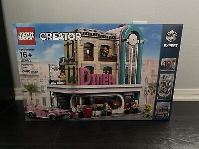 LEGO 10260 Creator Expert Downtown Diner (2480pcs) New & Sealed *SHIPS SAME DAY*