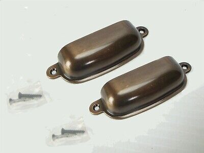 """(2 pcs) 3-5/8"""" (Medium Brushed Brown) CABINET or DRAWER - PULL HANDLE Heavy DUTY"""
