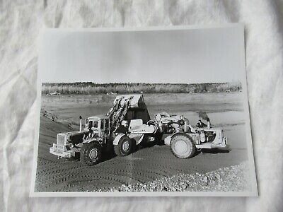 Original Photo Caterpillar 988 Loader Loading Scraper Black White 10x8 Photo