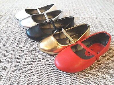 Infant toddler girls flat ballet dress shoes size 4-9