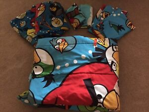 Angry birds bedding and toys