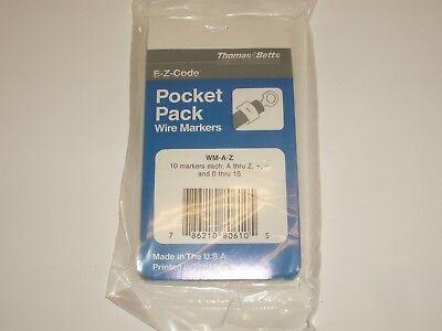 Self Sticking Pocket Pack Gardner Bender Cat.No L2 L3 42-034 Wire Markers L1