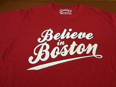 Sully's Believe in Boston T-Shirt  XL  Burgundy   S6 - Sully Shirt