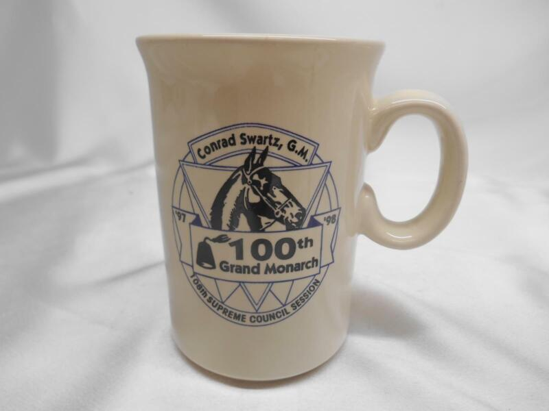 1997-98 GROTTOES OF NORTH AMERICA MASTER MASONS COFFEE CUP MUG GRAND  MONARCH