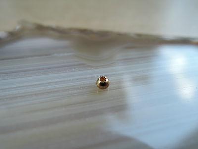 Zwischenteile Kugel glänzend 3mm Zwischenperlen Spacer Schmuck 585 Gold