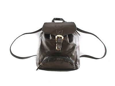 Authentic Gianni Versace Vintage black leather backpack