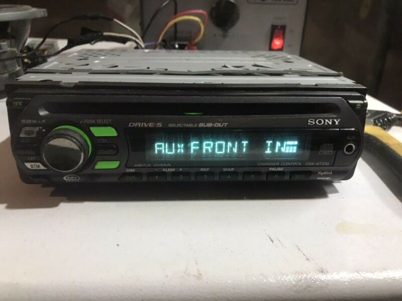 SONY CDX-GT310 CAR STEREO DETACHABLE FACEPLATE  FACTORY SONY CDX-GT310  OEM