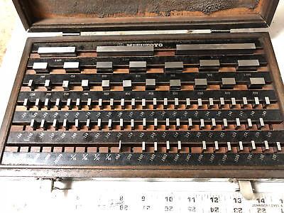 Machinist Tools Lathe Mill Machinist Mitutoyo Gage Block Set 516 903 Grade A