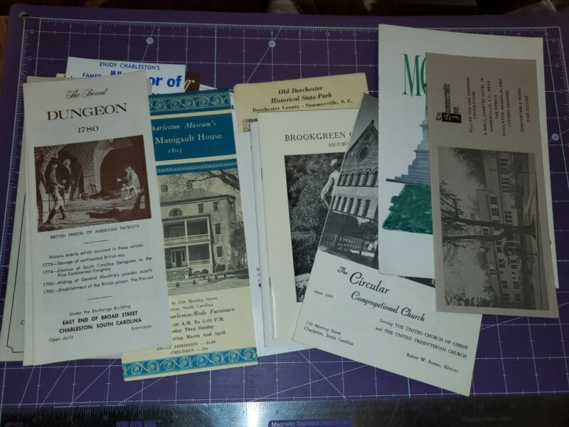 Vintage South Carolina travel brochure lot