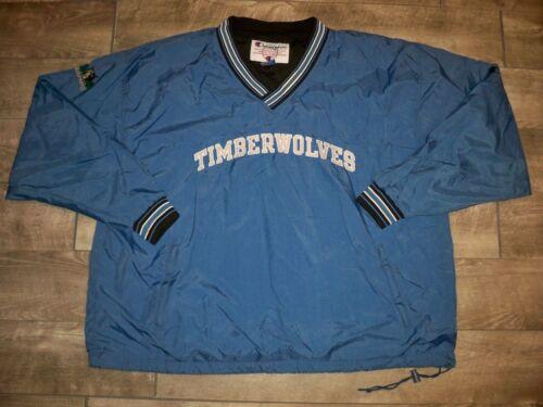 Vintage Champion Minnesota Timberwolves Windbreaker Windstopper Men