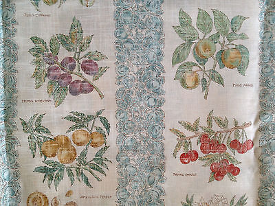 "OOP Robert Allen ""SAVEUR"" French Homeland Fruit Provence Linen MADE IN ENGLAND"
